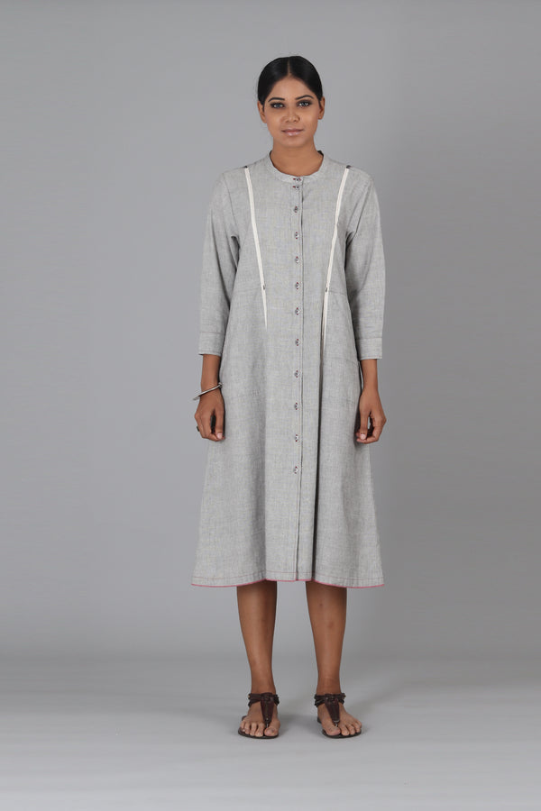 Grey Kismis Button Down Dress