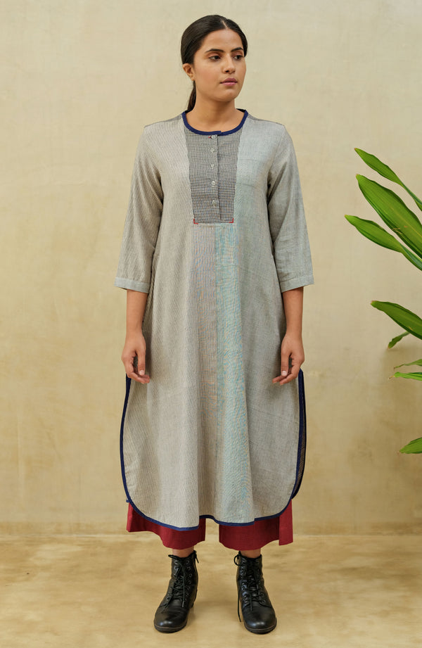 Grey Arctic Yoke Dress