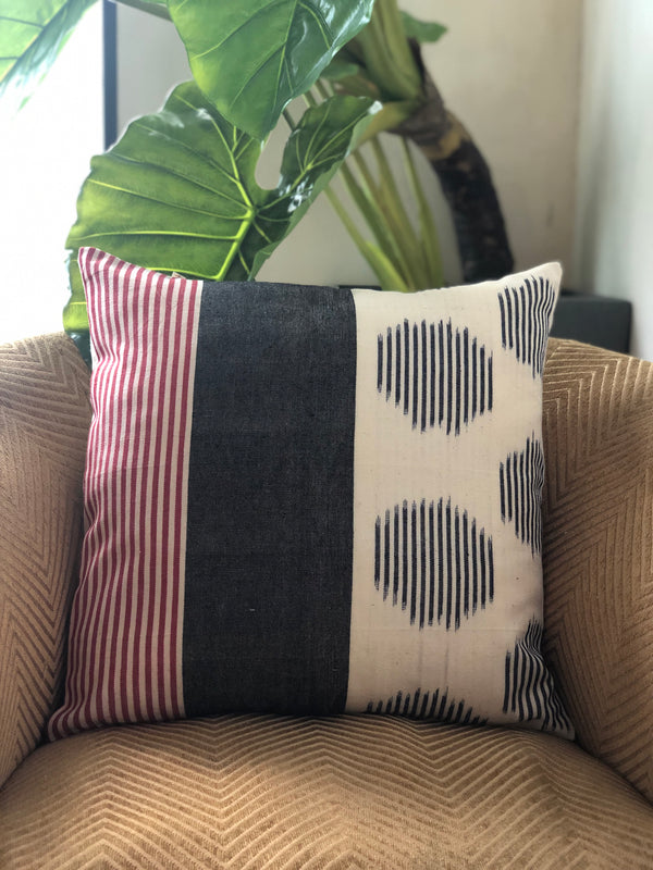 Blue & Red Stripe Vision Cushion