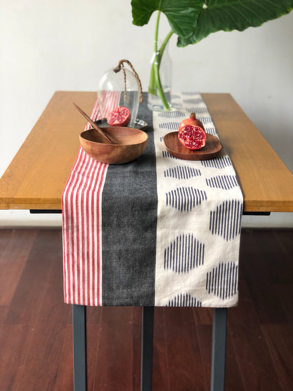Blue & Red Stripe Vision Table Runner