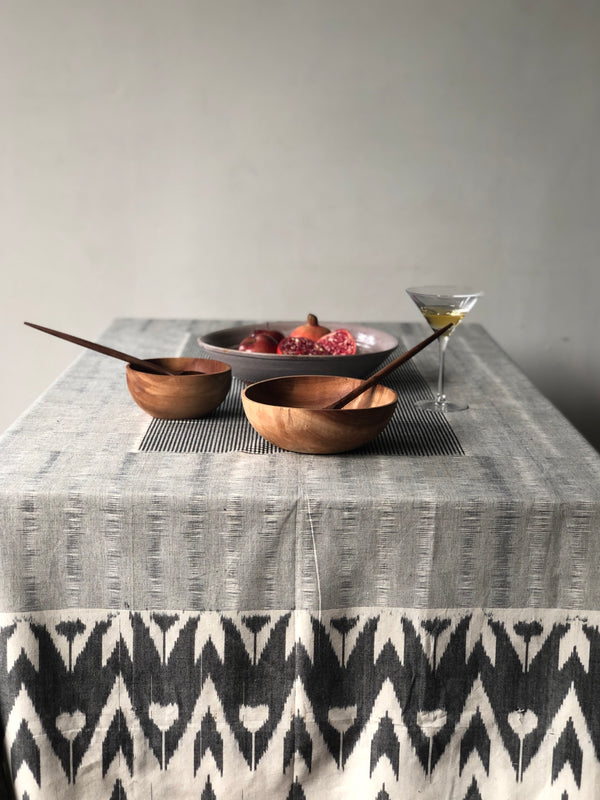 Grey Zig Zag Table Cover