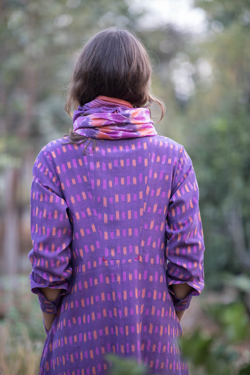 Purple Box Yoke Jacket