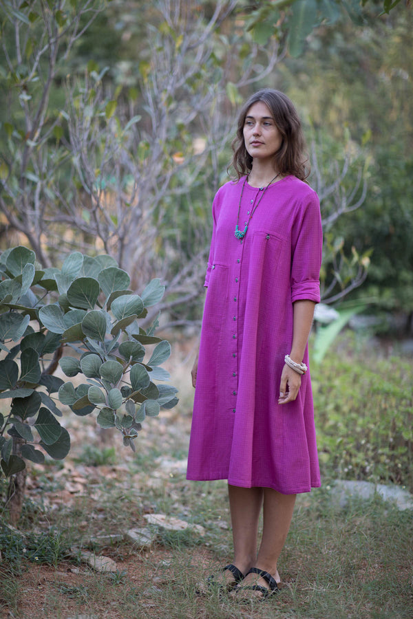Pink Doria Button Down Kurta