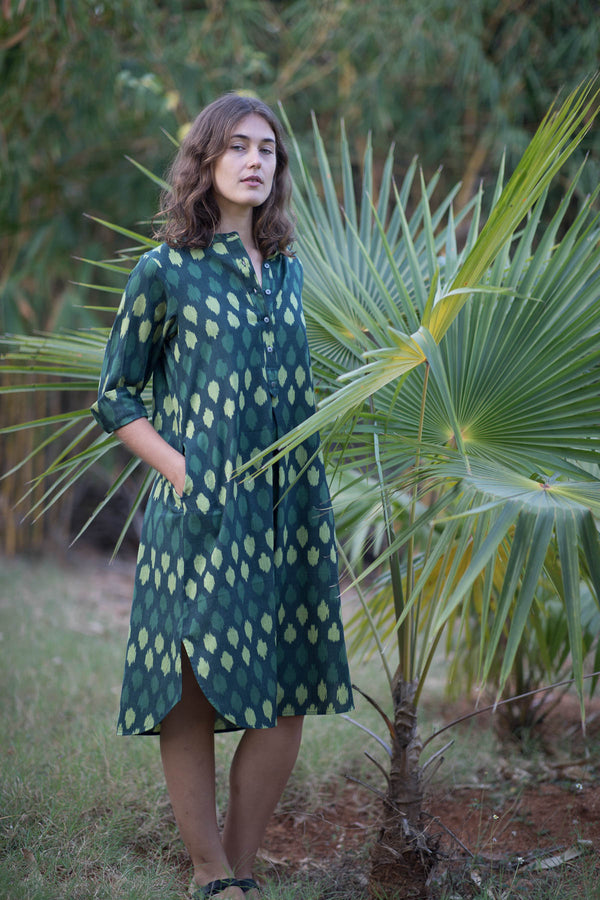 Green Leopard Long Dress