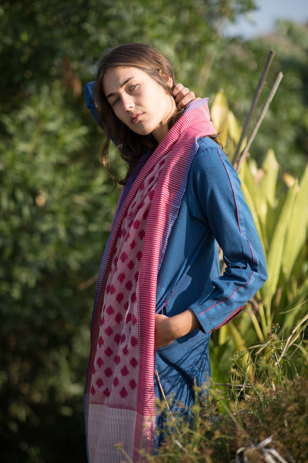 Pink Polka Stole