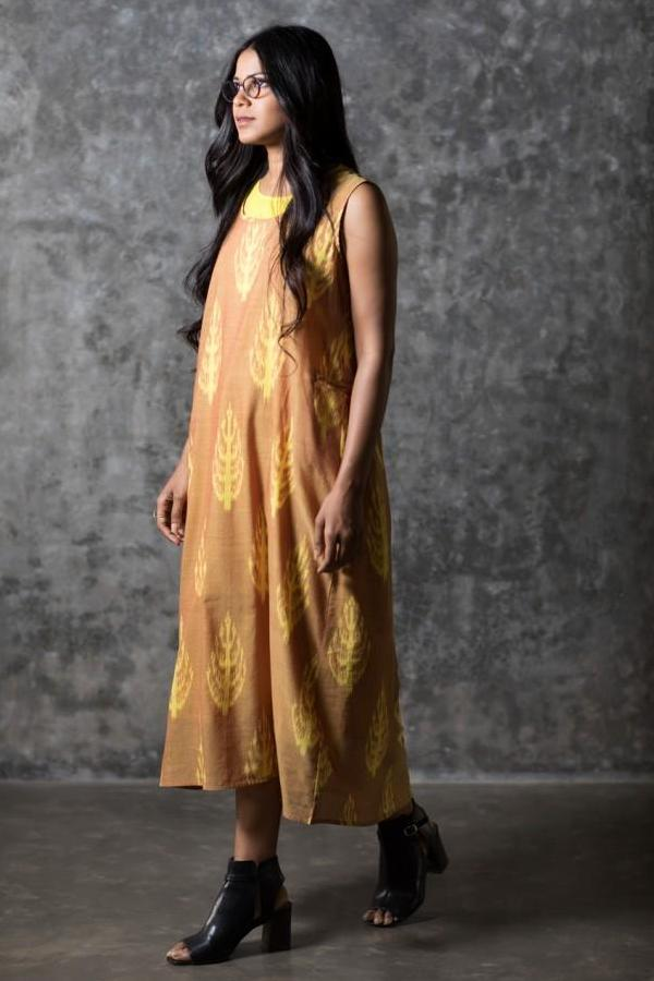 Yellow Fern Sleeveless Dress