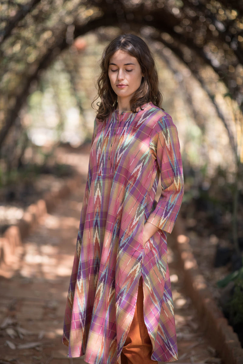 Multi Checks Long Kurta