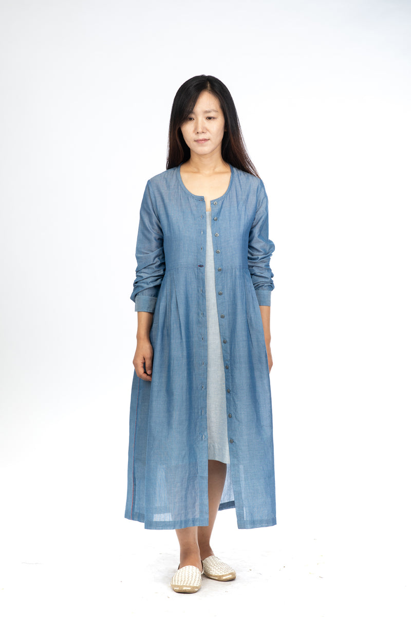 Blue Chambray Maxi Dress