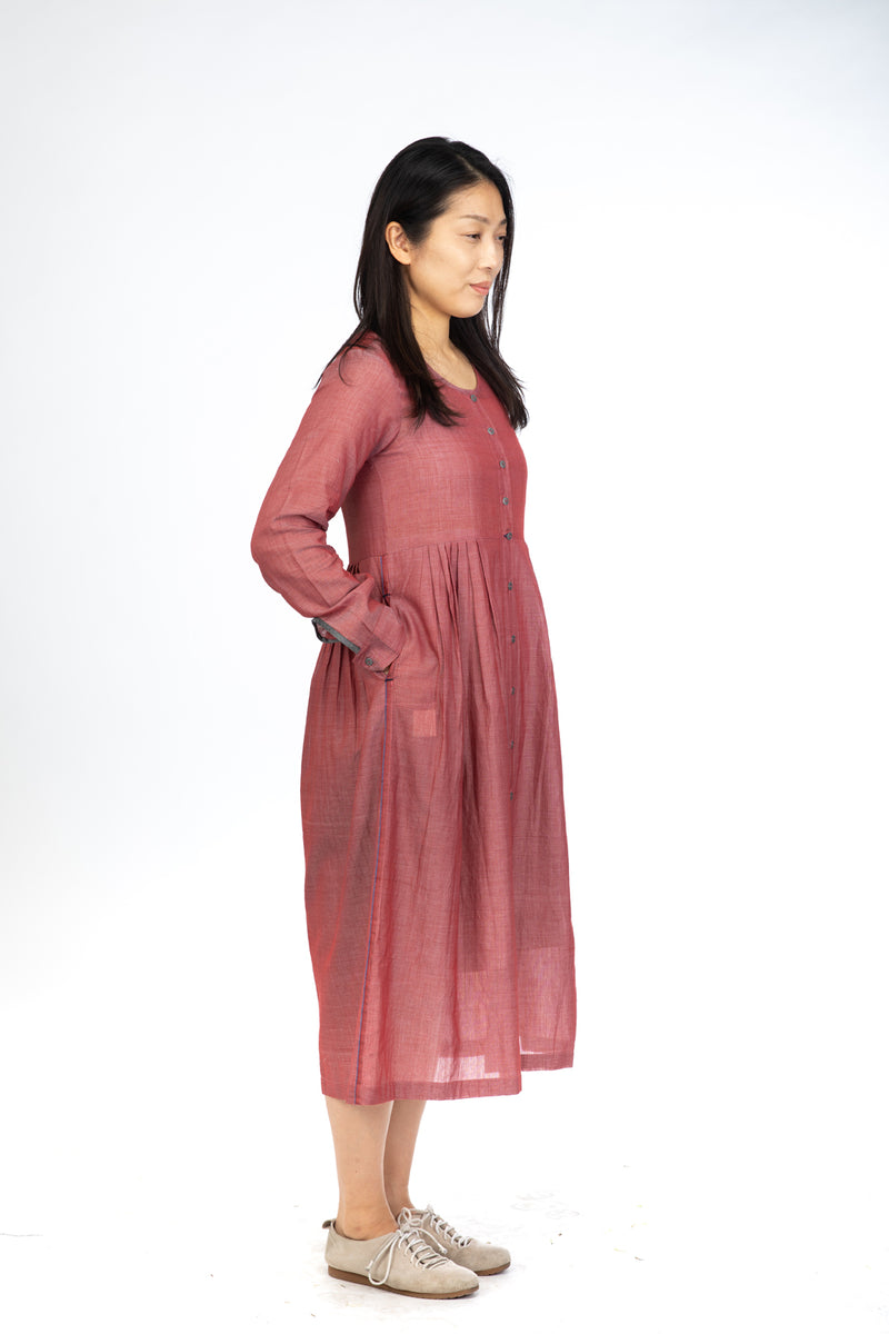 3692ad1fc0 Red Chambray Maxi Dress – Translate - Handwoven Ikat