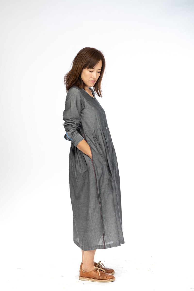 Black Chambray Maxi Dress