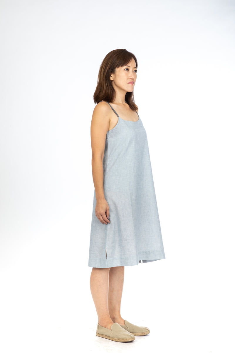Blue Fil-a-Fil Strap Dress