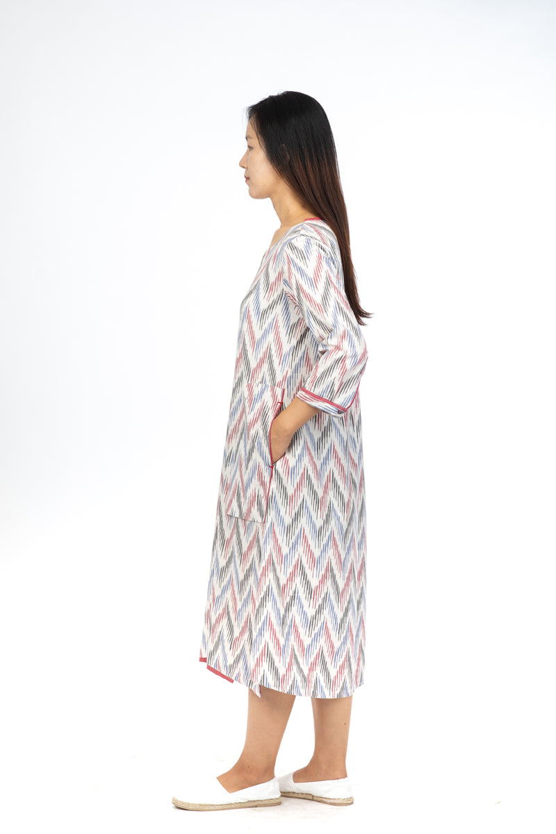 White Fern A-Line Dress