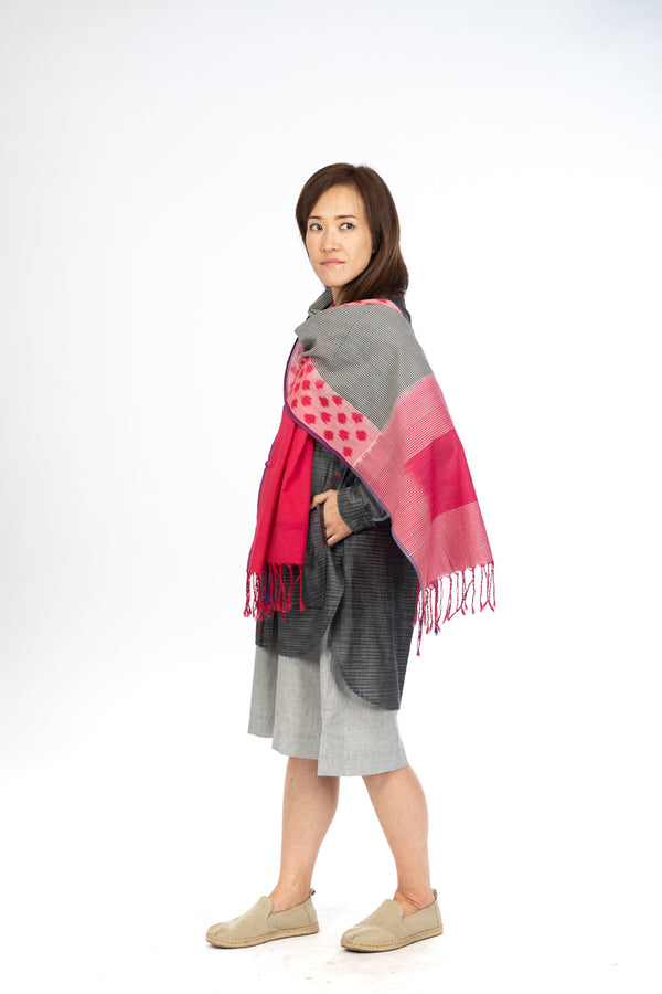 Red Pink Polka Stole
