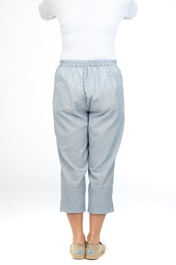 Blue Kismis Capri Trousers