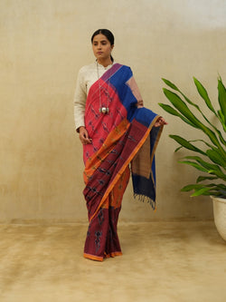 Multi Paisley Cotton Saree