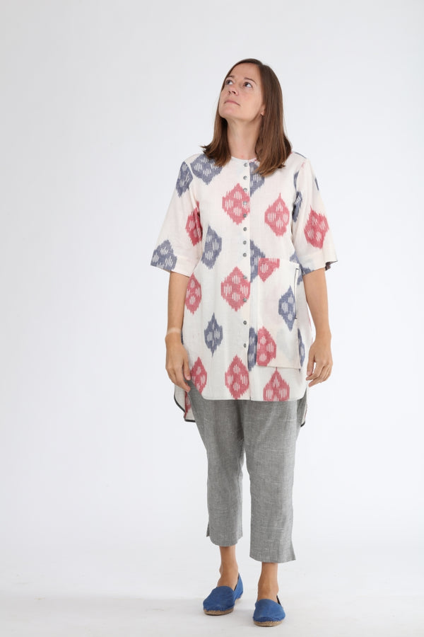 Lotus Stem Buttoned Tunic
