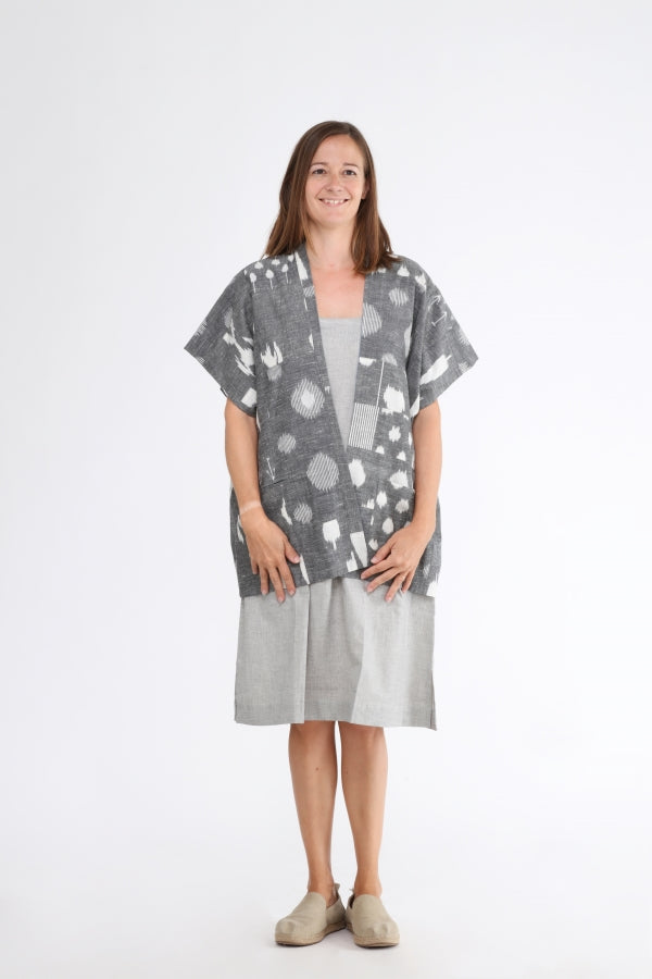 Grey Echo Button Shrug