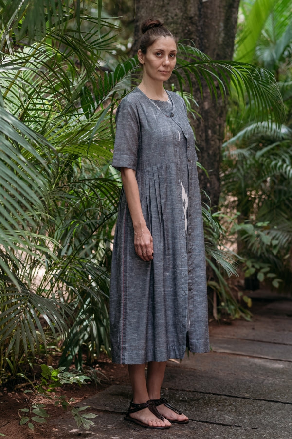 Gray Chambray Maxi Dress