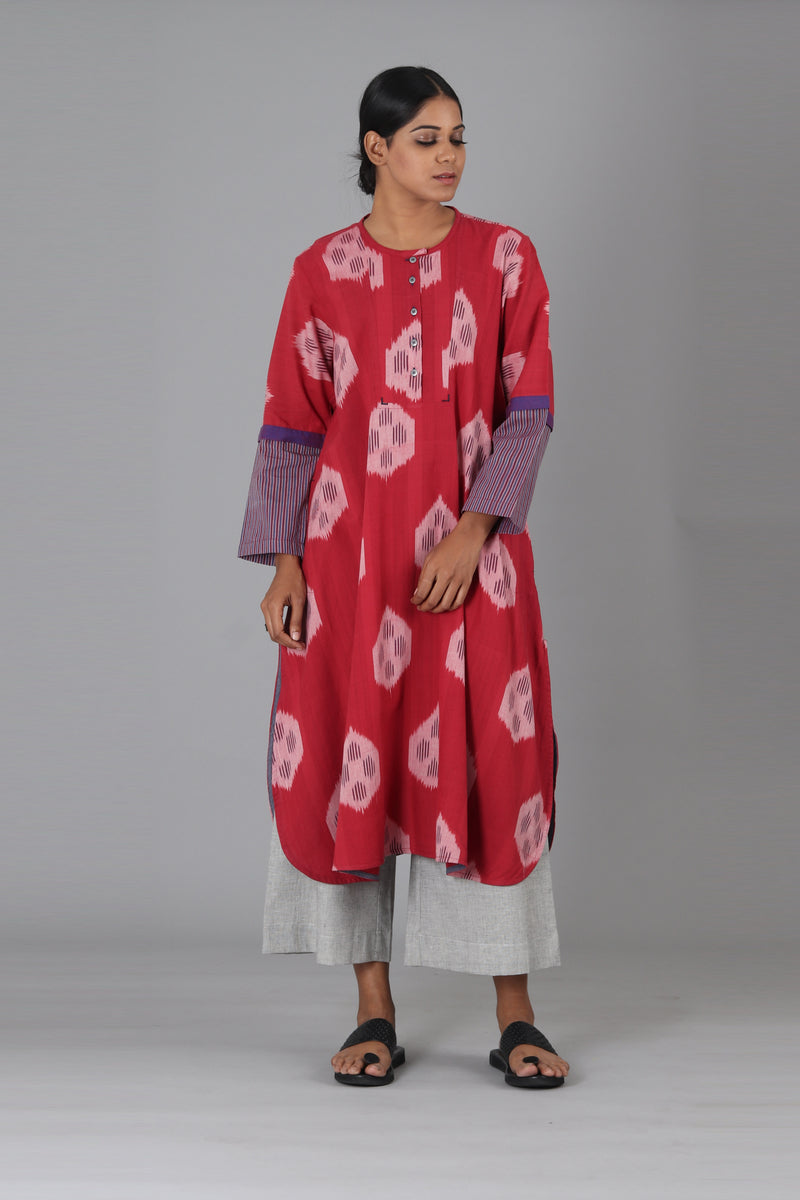Red Circle Long Kurta
