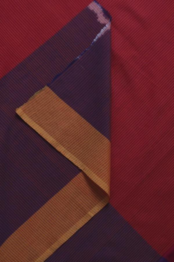 Purple Red Ikat Cotton Saree