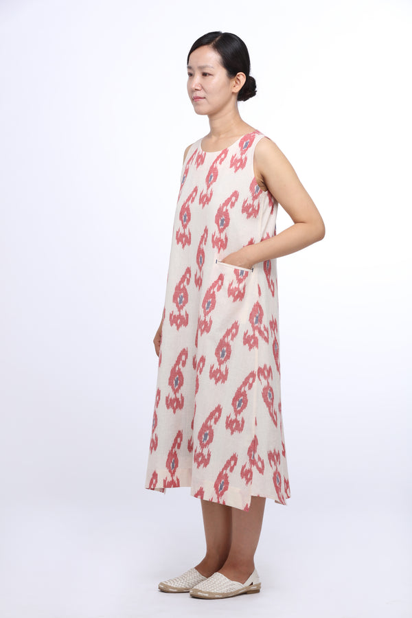 Paisley Shift Sleeveless Dress