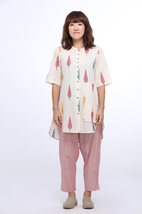 Multi Leaf Tunic Top