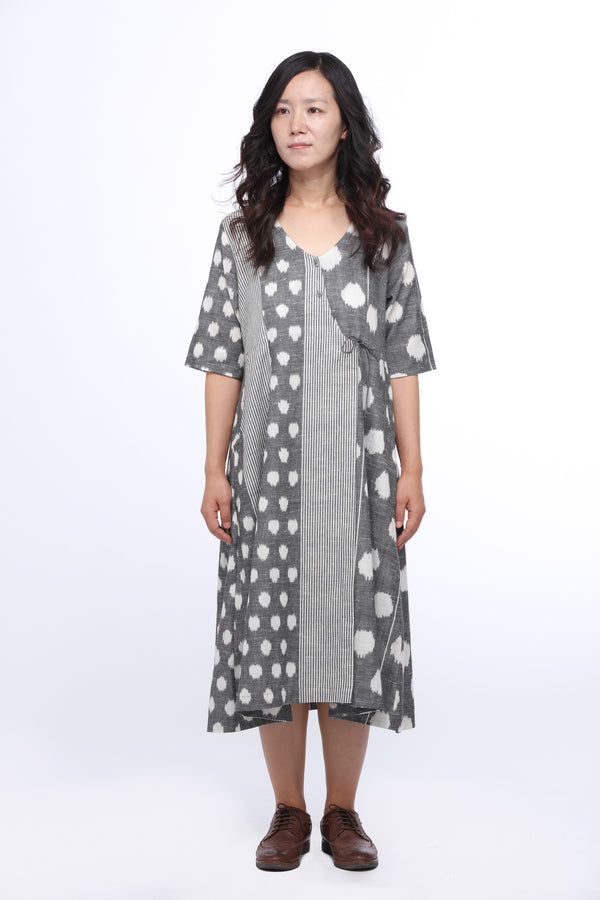 Cloud Burst Wrap Dress