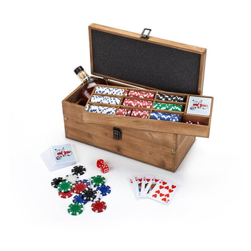 poker kit box chips scotch