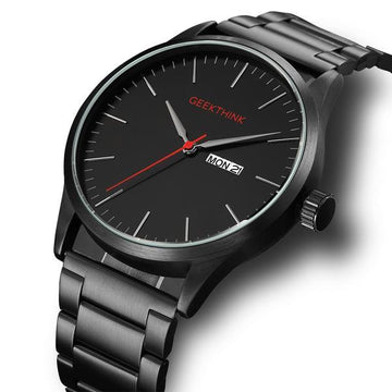 black stainless watch geekthing