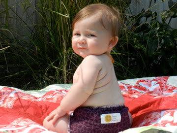 baby in cloth diaper, arfy's square tab