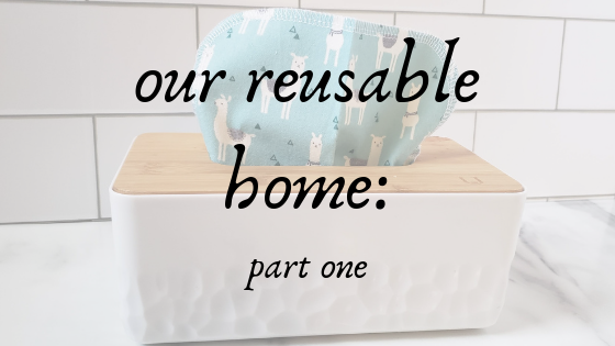 reusable home with cloth tissues in background