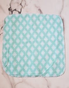 Unpaper Towels: Teal with White Diamonds