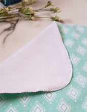 Load image into Gallery viewer, Unpaper Towels: Teal with White Diamonds