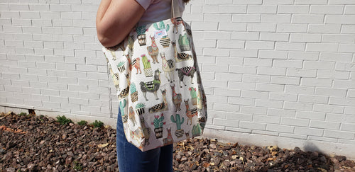 Reusable Grocery Bag: Llamas