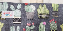 Load image into Gallery viewer, Reusable Grocery Bag: Gray Cactus
