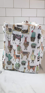 Extra Large Reusable Grocery Bag: Llamas