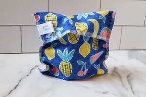 Cotton Reusable Snack Bag: Fruits