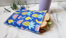 Load image into Gallery viewer, Cotton Reusable Snack Bag: Fruits