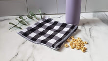 Load image into Gallery viewer, Cotton Reusable Snack Bag: Buffalo Check