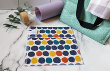 Load image into Gallery viewer, Cotton Reusable Snack Bag: Big Dots