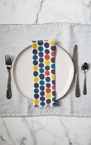 Cloth Napkins: Big Polka Dots