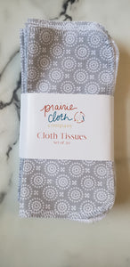 Cloth Tissues: Gray Circles