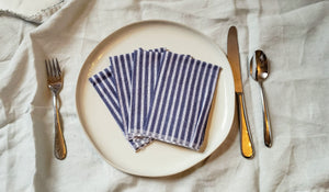 Cloth Napkins: Navy Stripes