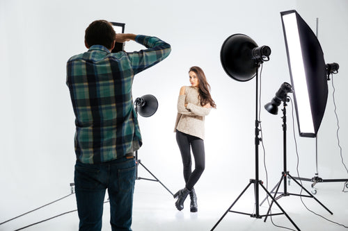 Portrait photography in a professional studio