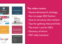 Load image into Gallery viewer, SEO strategy workshop video