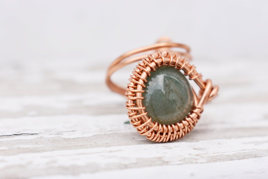 Jade Copper Ring