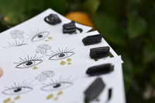 Load image into Gallery viewer, Black Tourmaline Studs