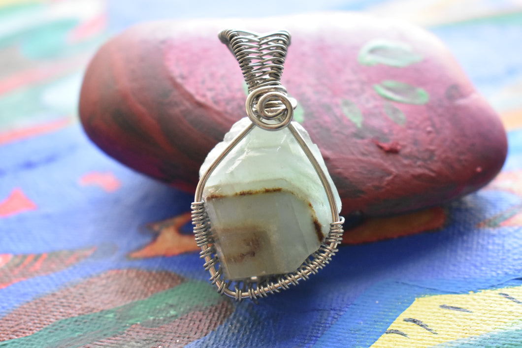 Green Calcite Silver Bb