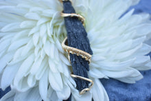 Load image into Gallery viewer, Black Kyanite Golden Wrap