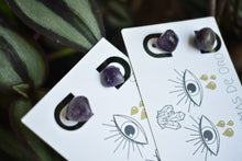 Load image into Gallery viewer, Tumbled Amethyst Studs